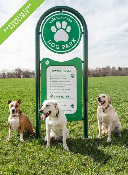 Welcome To The Dog Park Sign